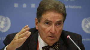 Alfred de Zayas, especialista independente da ONU que visitou a Venezuela no final do ano passado
